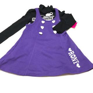 ロニィ(RONI)のV2 RONI 訳あり新品 長袖Tシャツ&スカート SIZE S(ワンピース)
