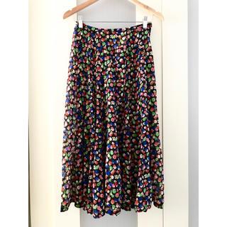 コムデギャルソン(COMME des GARCONS)のtricot COMME des GARCONS ギャルソン  総柄スカート(ロングスカート)