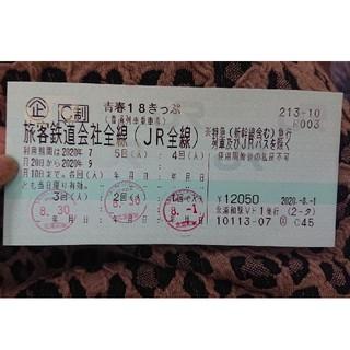 青春18きっぷ 2回分(鉄道乗車券)
