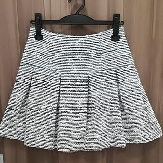 ルシェルブルー(LE CIEL BLEU)のMANIANIENNA ツイードスカート セットアップ可(ミニスカート)