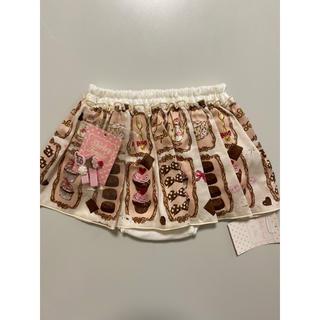 シャーリーテンプル(Shirley Temple)のシャーリーテンプル ショコラトリー スカート ヘアピン 新品(スカート)