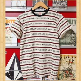 キャリー(CALEE)の定価8640円 CALEE ジャガード ロゴボーダー Tシャツ S ケンコバ着用(Tシャツ/カットソー(半袖/袖なし))