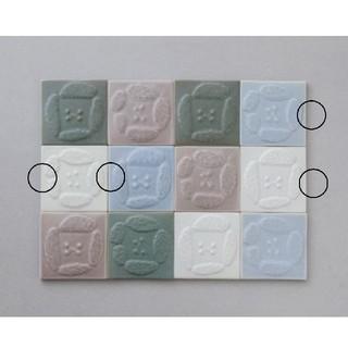 ミナペルホネン(mina perhonen)の【dear】タイル4枚 white & light blue ミナペルホネン(その他)