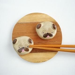 パグ犬 箸置きセット②(テーブル用品)