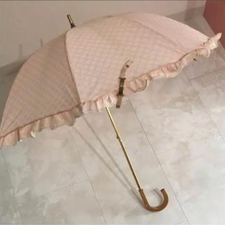 セリーヌ(celine)のセリーヌ 日傘 長傘 ピンク フリル(傘)