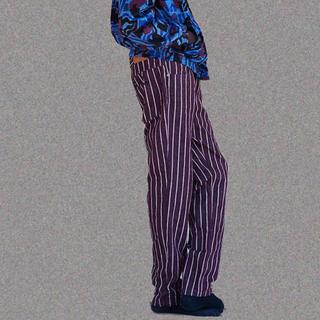 バレンシアガ(Balenciaga)のnapa by martine rose サイズs ストライプ パープル 紫(デニム/ジーンズ)