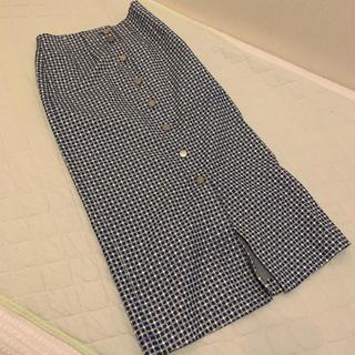 ロンハーマン(Ron Herman)の美品 ロンハーマン ronherman スリットタイトスカート ギンガムチェック(ひざ丈スカート)