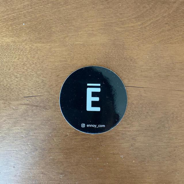 1LDK SELECT(ワンエルディーケーセレクト)のエンノイ ennoy ステッカー 黒 メンズのファッション小物(その他)の商品写真