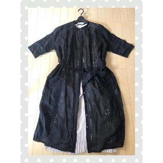 ピュアルセシン(pual ce cin)のカットワーク刺繍羽織ワンピース(pual ce cin)(ロングワンピース/マキシワンピース)
