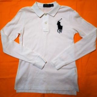 POLO RALPH LAUREN - 未使用 ラルフローレン 長袖ポロシャツ 白  ホワイト