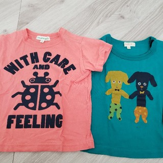 サンカンシオン(3can4on)のワールド  Tシャツ 2枚セット 100(Tシャツ)