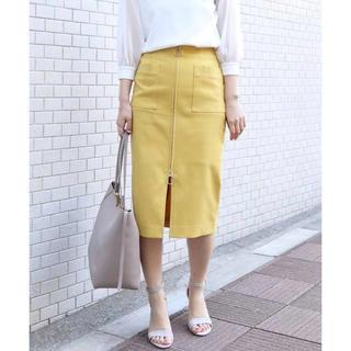 ノーブル(Noble)のNOBLE T/Cダブルクロス フープジップタイトスカート(ひざ丈スカート)