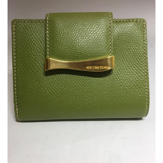 JUNKO SHIMADA 二つ折り財布 (型押し)未使用品