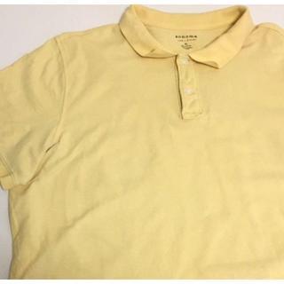 SONOMA ビンテージ ポロシャツ コットン XL 古着 イエロー。