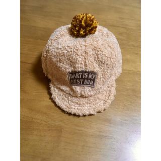 アンパサンド(ampersand)の【美品】Ampersand ベビー キャップ 帽子 46cm ベージュ 送料無料(帽子)