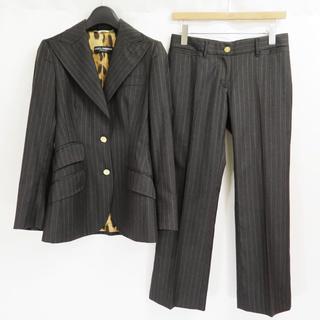 ドルチェアンドガッバーナ(DOLCE&GABBANA)のドルチェ&ガッバーナ ウール カシミヤ ストライプ  パンツ スーツ ドルガバ(スーツ)