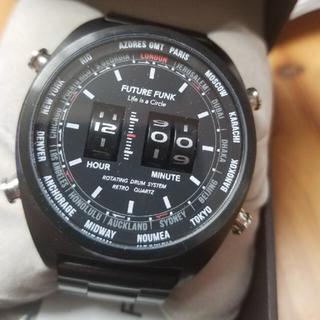 ビームス(BEAMS)の希少⭐︎FUTURE FUNK/BEAMS   BLACK  (腕時計(アナログ))