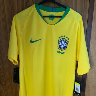 ナイキ(NIKE)の【新品未使用】ナイキ ブラジル代表 ユニフォーム Sサイズ 2018 W杯モデル(ウェア)