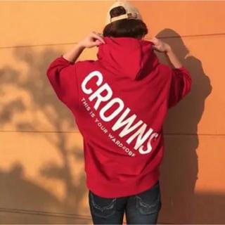 ロデオクラウンズ(RODEO CROWNS)の最終❤RODEO CROWNSメンズスライディングロゴパーカー❤(パーカー)