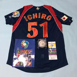 ミズノ(MIZUNO)の2009WBC日本代表ユニフォーム イチロー選手モデル 未使用美品 特典有(記念品/関連グッズ)