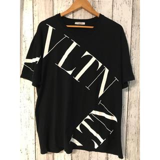 ヴァレンティノ(VALENTINO)のVALENTINO ヴァレンティノ マクロVLTNグリッド Tシャツ 黒 XXL(Tシャツ/カットソー(半袖/袖なし))