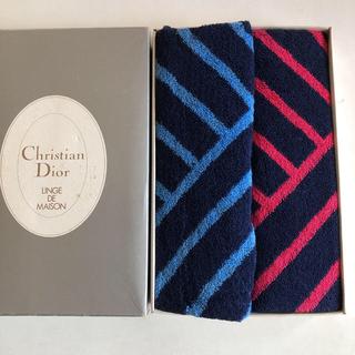 クリスチャンディオール(Christian Dior)のみぃ様専用!クリスチャンディオールハンドタオル2枚(タオル/バス用品)