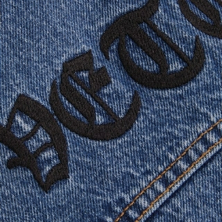 バレンシアガ(Balenciaga)の正規店購入新品vetements 20ss今期新作刺繍 ヴェトモン ジャケット(Gジャン/デニムジャケット)