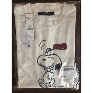 スヌーピー(SNOOPY)のPEANUTS スヌーピー ピグメント プリントTシャツ ホワイト Lサイズ(Tシャツ/カットソー(半袖/袖なし))