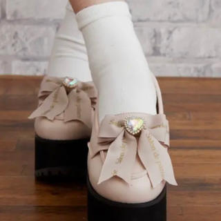 リズリサ(LIZ LISA)のLIZLISA 厚底リボンローファー 量産型(ローファー/革靴)