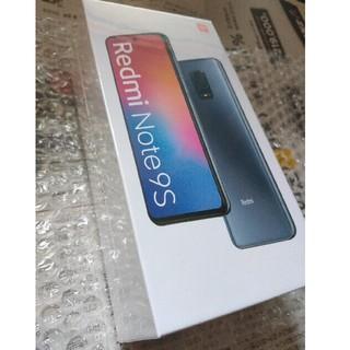 アンドロイド(ANDROID)のRedmi Note9S 4GB/64GB ブルー 新品未開封(スマートフォン本体)