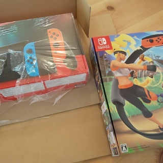 ニンテンドースイッチ(Nintendo Switch)のNintendo Switch と リングフィットアドベンチャーどちらも新品(家庭用ゲーム機本体)