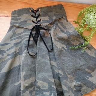 レピピアルマリオ(repipi armario)のrepipi armario迷彩スカートパンツ(パンツ/スパッツ)