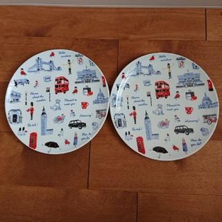キャスキッドソン(Cath Kidston)のキャスキッドソン ディナープレート二枚セット ミニロンドンアイコン 皿(食器)