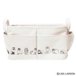 リサラーソン(Lisa Larson)のリサ・ラーソンの外ポケット付き収納ボックス(小物入れ)