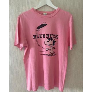 スヌーピー(SNOOPY)のヴィンテージスヌーピー BLUEBUCK Tシャツ ピンク(Tシャツ/カットソー(半袖/袖なし))
