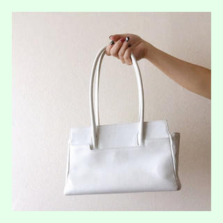 プラージュ(Plage)のmichel adolphe ◆ White Leather Bag(ハンドバッグ)