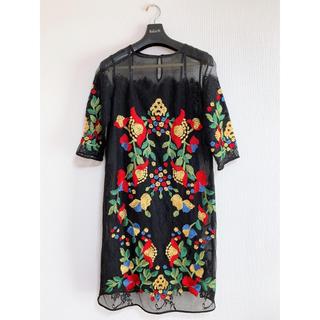 GRACE CONTINENTAL - 【美品】グレースコンチネンタル 刺繍ドレス