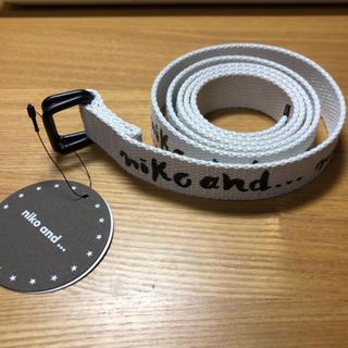 ニコアンド(niko and...)のこもも様専用  Niko and… オリジナル筆記ロゴテープベルト(ベルト)