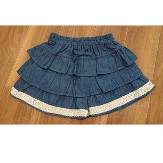 ニシマツヤ(西松屋)の新品タグ付き☆デニムキュロットスカート  80(スカート)