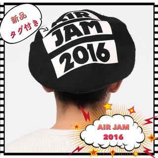 ウィゴー(WEGO)の【レア☆/新品/タグ付き】WEGO×AIR JAM 2016 コラボ ベレー帽(ミュージシャン)