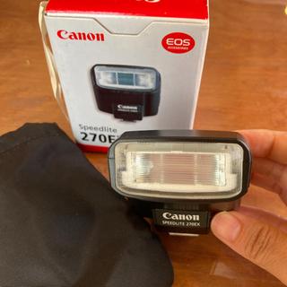 キヤノン(Canon)のCanon270ex保証書説明書つき(ストロボ/照明)