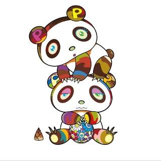 メディコムトイ(MEDICOM TOY)の村上隆 最新作 パンダ 版画 ドラえもん ED1桁 良番(版画)
