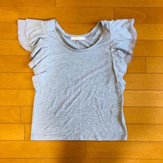 ココディール(COCO DEAL)の【美品】ココディール 袖フリルTシャツ(Tシャツ(半袖/袖なし))