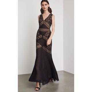 ビーシービージーマックスアズリア(BCBGMAXAZRIA)の❤️BCBG 2020新作 新品 黒ワンピース ドレス 綺麗(ロングドレス)