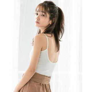 フィフス(fifth)の♡fifth♡インナーレスバックオープンキャミソール♡ホワイト♡(キャミソール)
