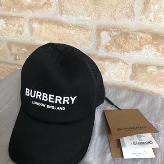 BURBERRY - バーバリー BURBERRY  キャップ ブランドロゴ ブラック Mサイズ