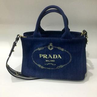 プラダ(PRADA)の送料込 2WAYバッグ ストライブブルーPRADA(ショルダーバッグ)
