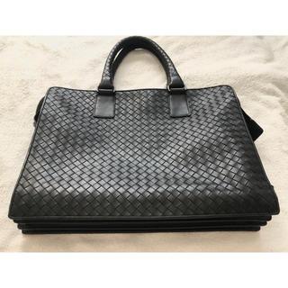 ボッテガヴェネタ(Bottega Veneta)のボッテガヴェネタ ブリーフケース ビジネスバッグ ブラック ネロ 黒 美品(ビジネスバッグ)