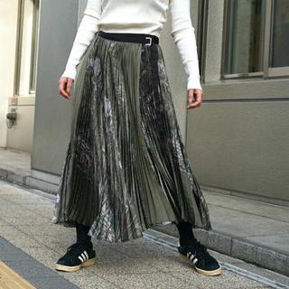 サカイ(sacai)のsacai × sun surf * サカイ× サンサーフ プリーツ巻きスカート(ロングスカート)