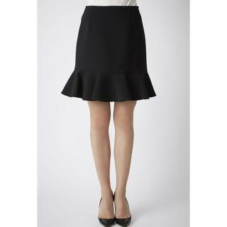 バーニーズニューヨーク(BARNEYS NEW YORK)のYOKO CHAN ヨーコチャン 定番スカート 36 黒(ひざ丈スカート)